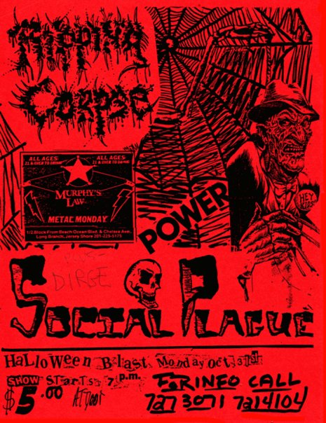 Ripping Corpse-Social Plague @ Long Branch NJ 10-31-88