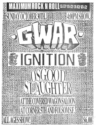 Gwar-Ignition-Osgood Slaughter @ San Francisco CA 10-30-88