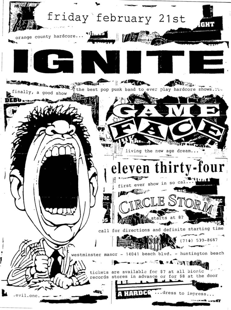 Ignite-Game Face-Eleven Thirty Four-Circle Storm @ Huntington Beach CA 2-21-97
