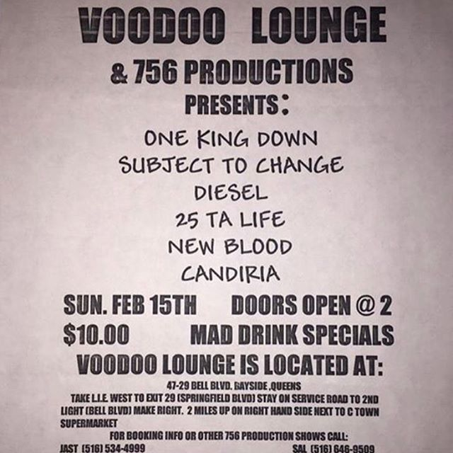 One King Down-Subject to Change-Diesel-25 Ta Life-New Blood-Candiria @ New York City NY 2-15-98