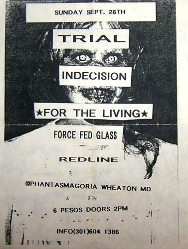 Trial-Indecision-For The Living-Force Fed Glass-Redline @ Wheaton MD 9-26-98
