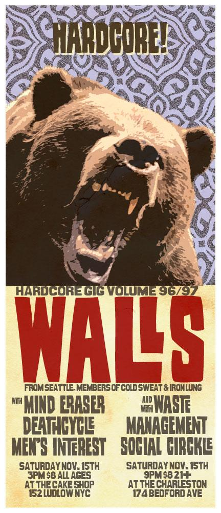 Walls-Mind Eraser-Deathcycle-Men's Interest-Waste Management-Social Circkle @ Brooklyn NY 11-15-08