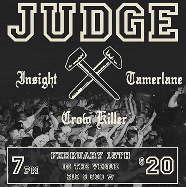 Judge-Insight-Tamerlane-Crow Killer @ Salt Lake City UT 2-15-18