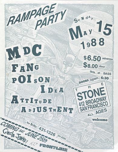 MDC-Fang-Poison Idea-Attitude Adjustment @ San Francisco CA 5-15-88