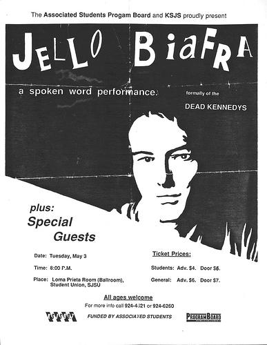 Jello Biafra @ San Jose CA 5-3-88