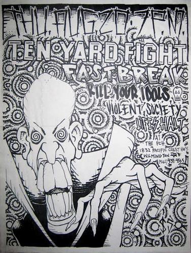Ten Yard Fight-Fastbreak-Kill Your Idols-Violent Society-Life's Halt @ Wilmington CA 8-20-98