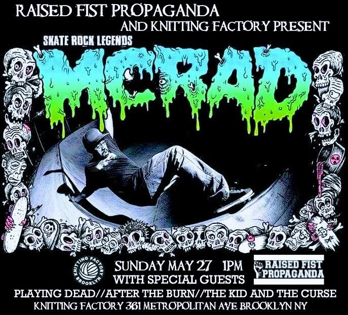 McRad-Playing Dead-After The Burn-The Kid & The Curse @ Brooklyn NY 5-27-18