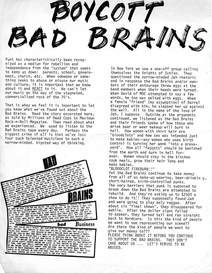 Boycott Bad Brains
