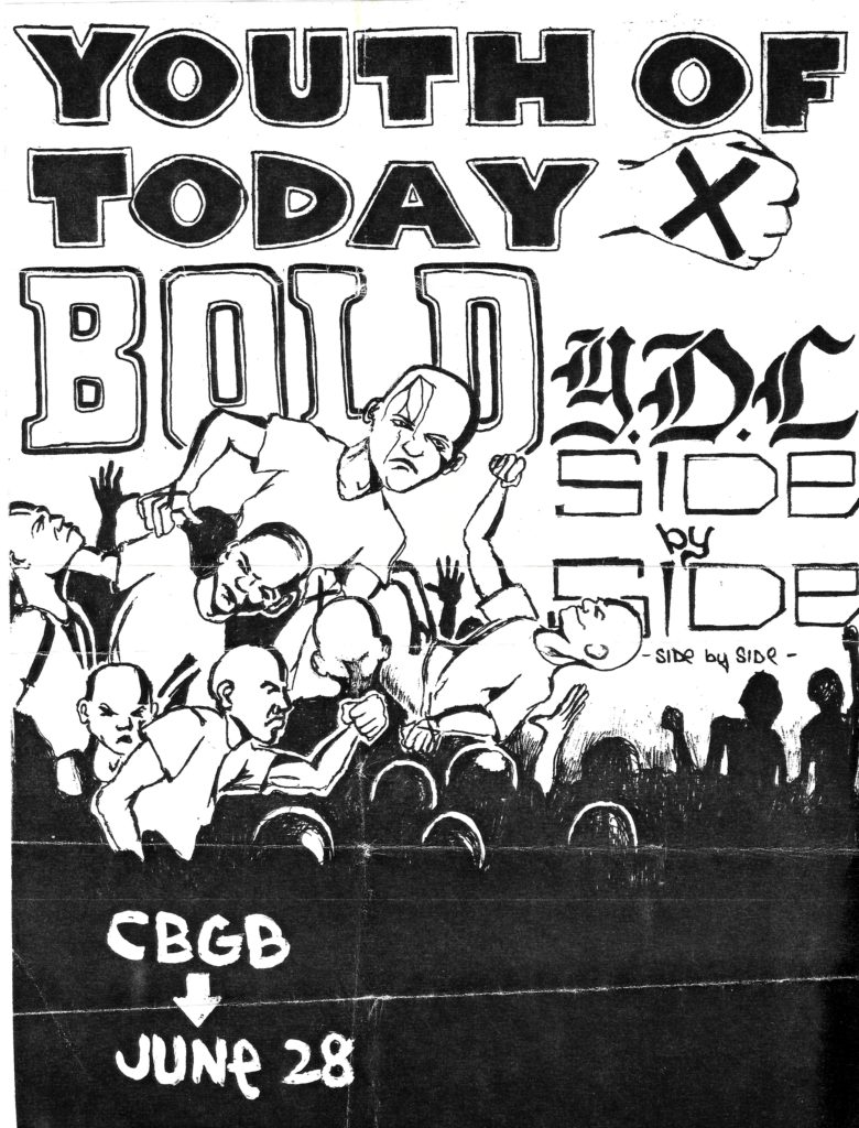 Youth Of Today-Bold-Youth Defense League-Side By Side @ New York City NY 6-28-87