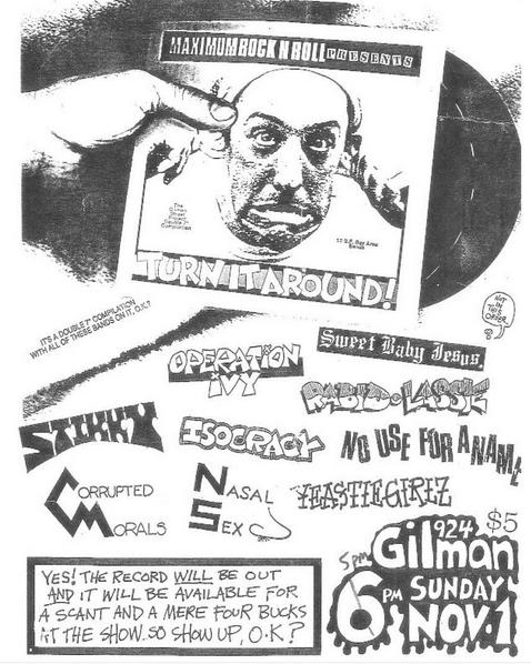 Huge Gilman St. Show 11-1-88