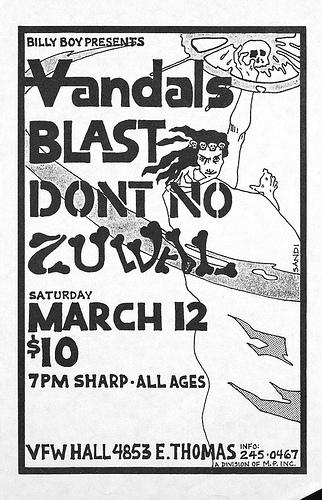 Vandals-Bl'ast!-Don't No @ Phoenix AZ 3-12-88
