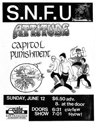 SNFU-Attitude-Capital Punishment-Attitude Adjustment @ San Francisco CA 6-12-88