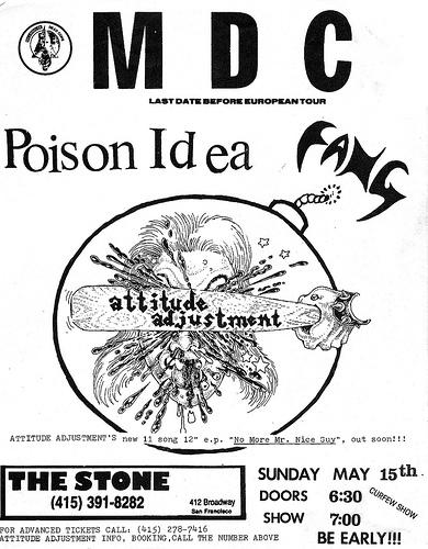 MDC-Poison Idea-Fang @ San Francisco CA 5-15-88