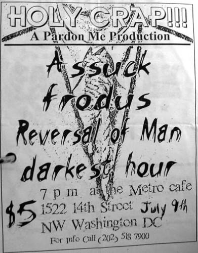 Assuck-Frodus-Reversal Of Man-Darkest Hour @ Washington DC 7-9-98