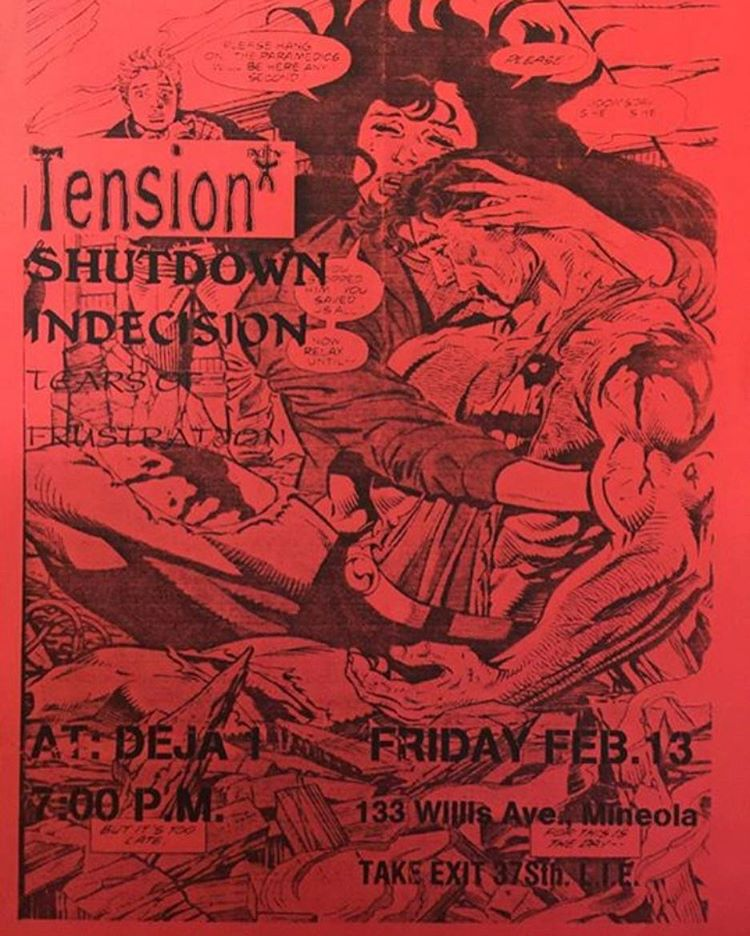 Tension-Shutdown-Indecision-Tears Of Frustration @ Mineola NY 2-13-98