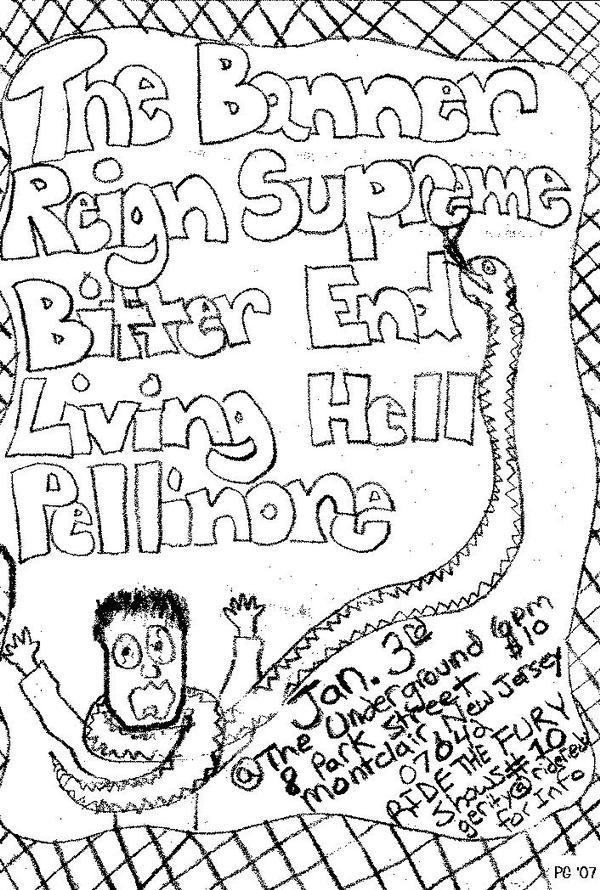 The Banner-Reign Supreme-Bitter End-Living Hell-Pellinore @ Montclair NJ 1-3-08