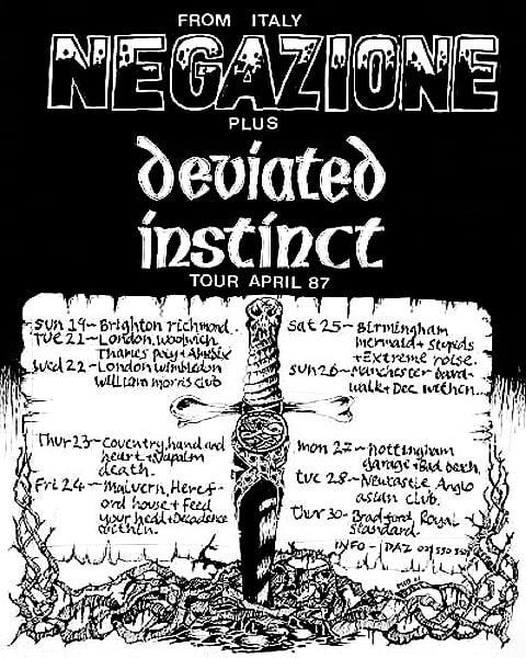 Negazione-Deviated Instinct Tour April 1987