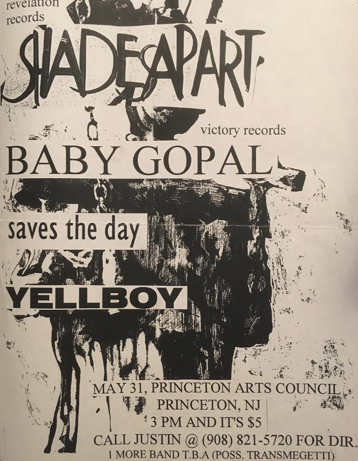 Shades Apart-Baby Gopal-Saves The Day-Yellboy @ Princeton NJ 5-31-97