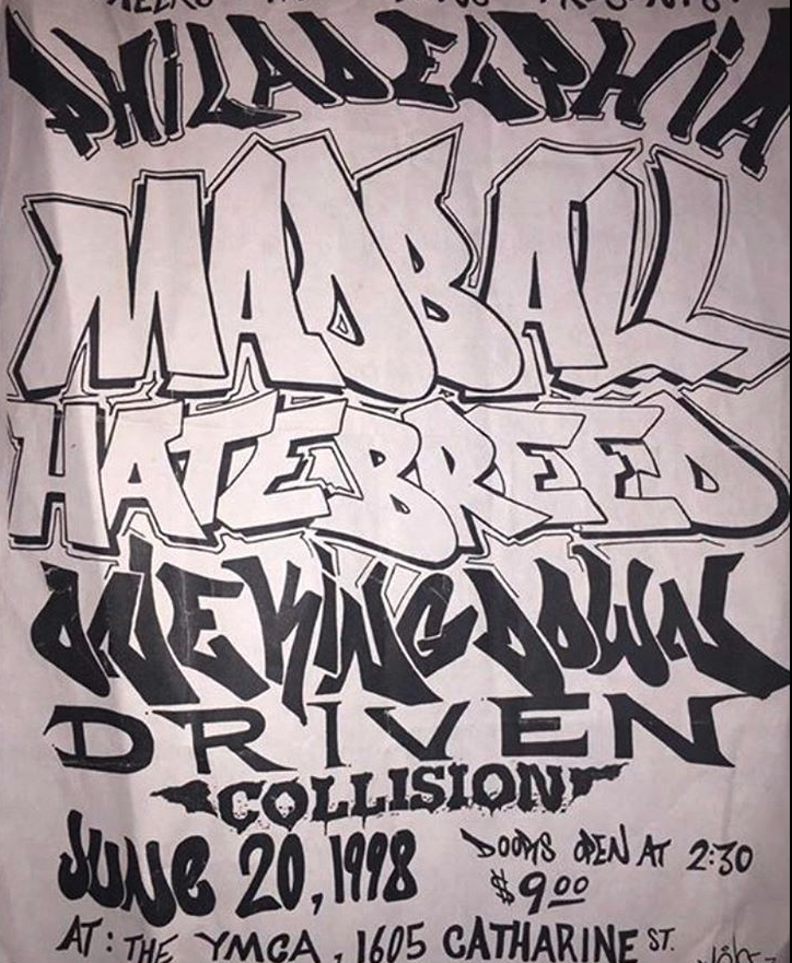 Madball-Hatebreed-One King Down-Driven-Collision @ Philadelphia PA 6-20-98
