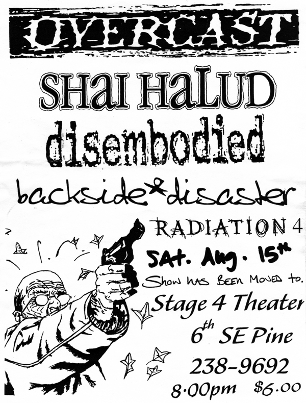 Overcast-Shai Halud-Disembodied-Backside Disaster-Radiation 4 @ Portland OR 8-15-98