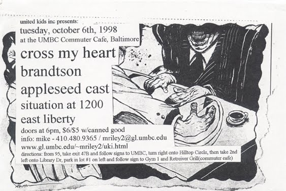 Cross My Heart-Brandtson-Appleseed Cast-Situation At 1200-East Liberty @ Baltimore MD 10-6-98