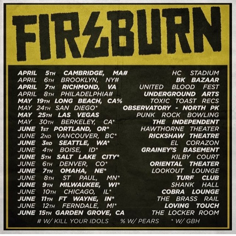 Fireburn Tour 2018