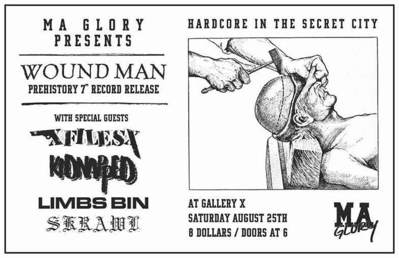 Wound Man-xFilesx-Kidnapped-Limbs Bin-Skrawl @ Boston MA 8-25-18