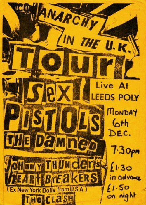 Sex Pistols-The Damned–Johnny Thunders-The Clash @ Leeds England 12-6-76