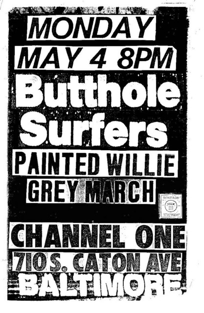 Butthole Surfers-Painted Willie-Grey March @ Baltimore MD 5-4-87
