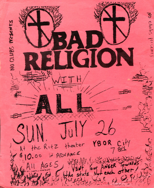 Bad Religion-All @ New York City NY 7-26-87