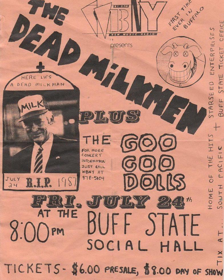 Dead Milkmen-Goo Goo Dolls @ Buffalo NY 7-24-87