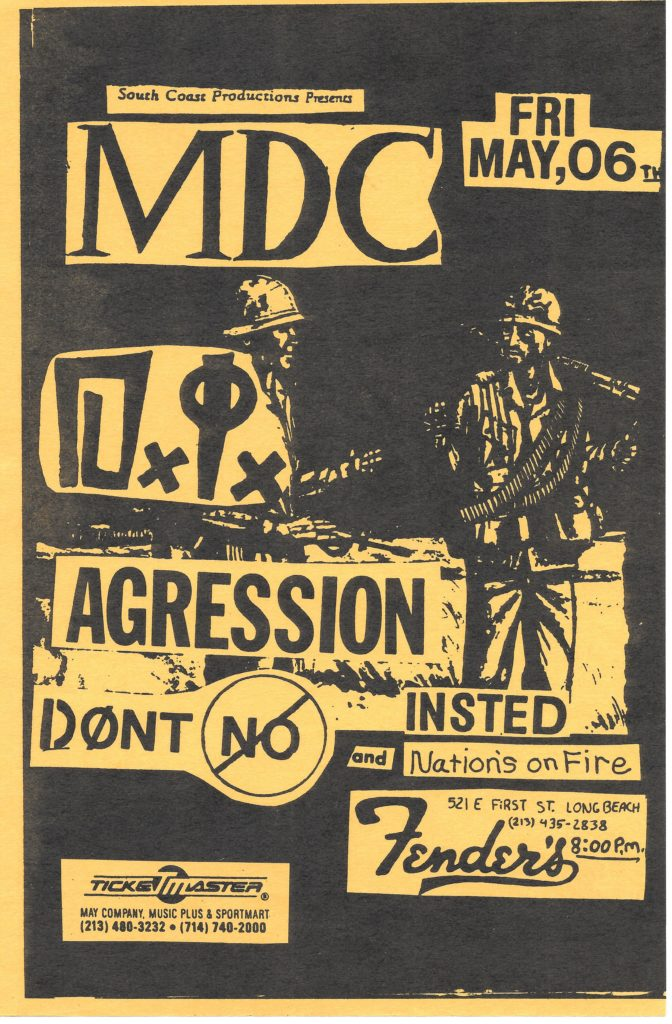 MDC-DI-Aggression-Don't No-Insted-Nation's On Fire @ Long Beach CA 5-6-87