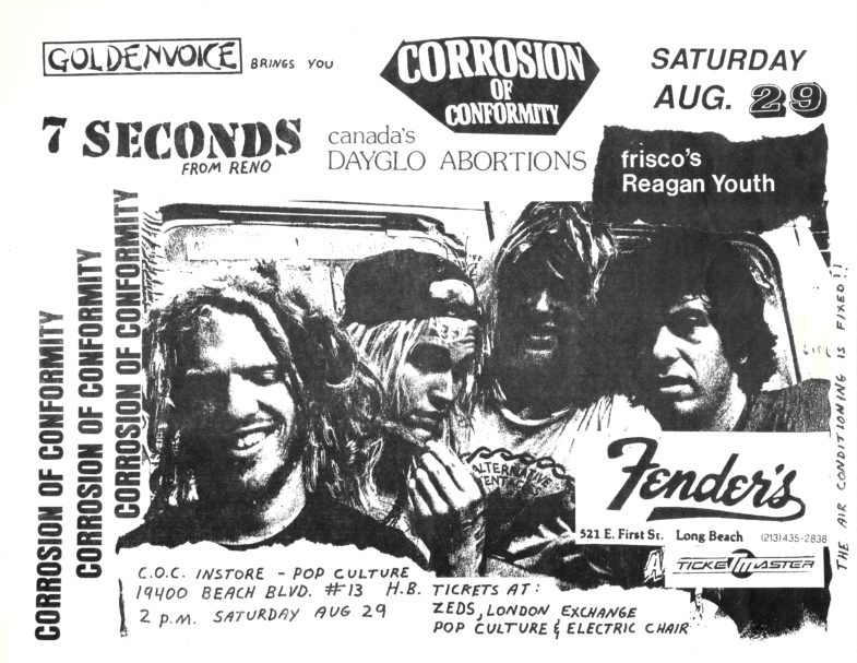 Corrosion Of Conformity-7 Seconds-Dayglo Abortions-Reagan Youth @ Long Beach CA 8-29-87