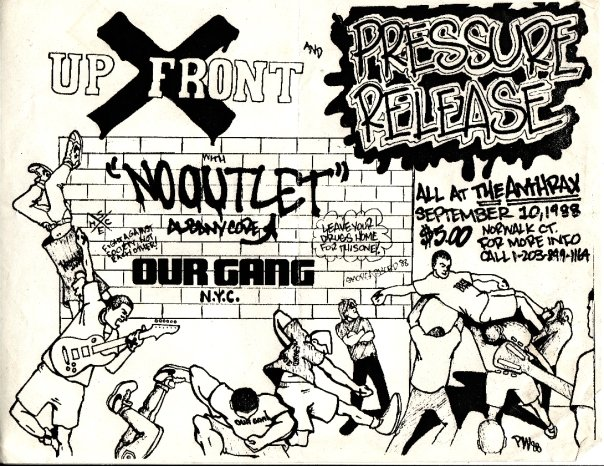 Up Front-No Outlet-Our Gang-Pressure Release @ Norwalk CT 9-10-88
