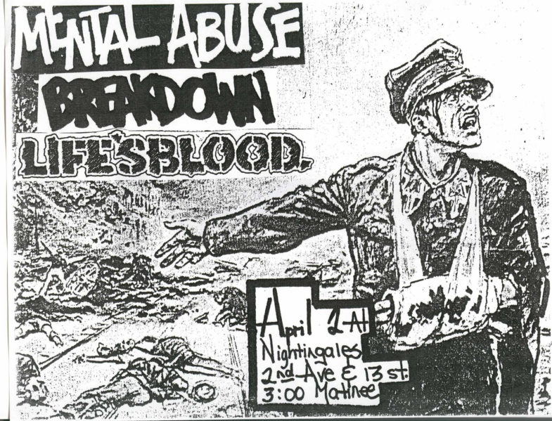 Mental Abuse-Breakdown-Life's Blood @ New York City NY 4-2-88