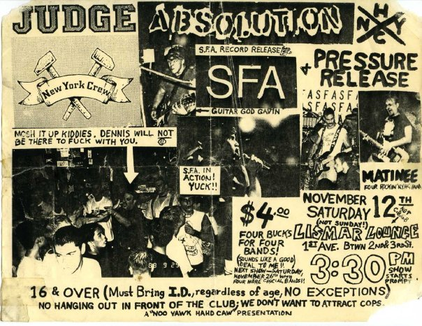 Judge-Absolution-SFA-Pressure Release @ New York City NY 11-12-88