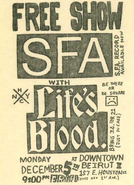 SFA-Life's Blood @ New York City NY 12-5-88