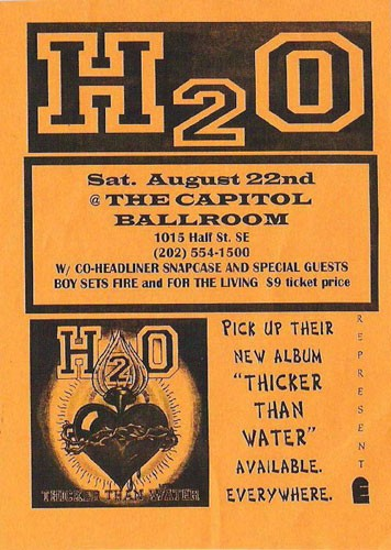 h2o-Snapcase-Boy Sets Fire-For The Living @ Washington DC 8-22-98