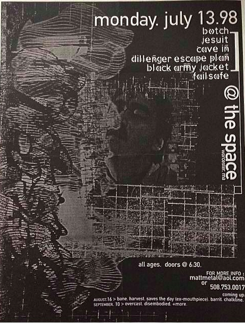 Botch-Jesuit-Cave In-Dillenger Escape Plan-Black Army Jacket-Fail Safe @ Worcester MA 7-13-98