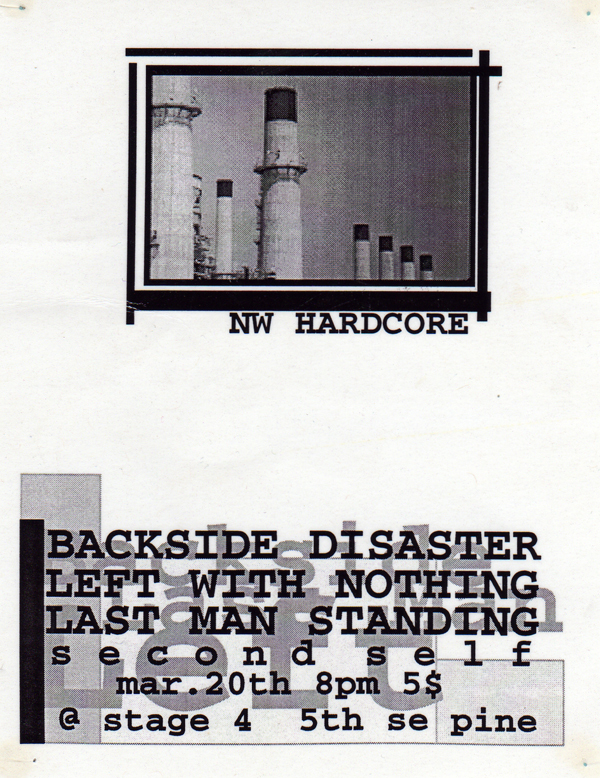 Backside Disaster-Left With Nothing-Last Man Standing @ Portland OR 3-20-98