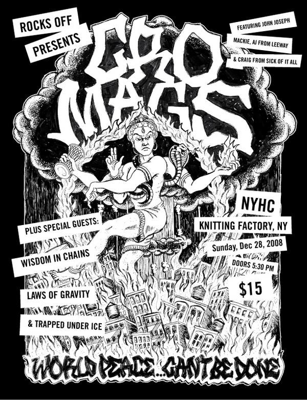 Cro Mags-Wisdom In Chains-Laws Of Gravity-Trapped Under Ice @ New York City NY 12-28-08