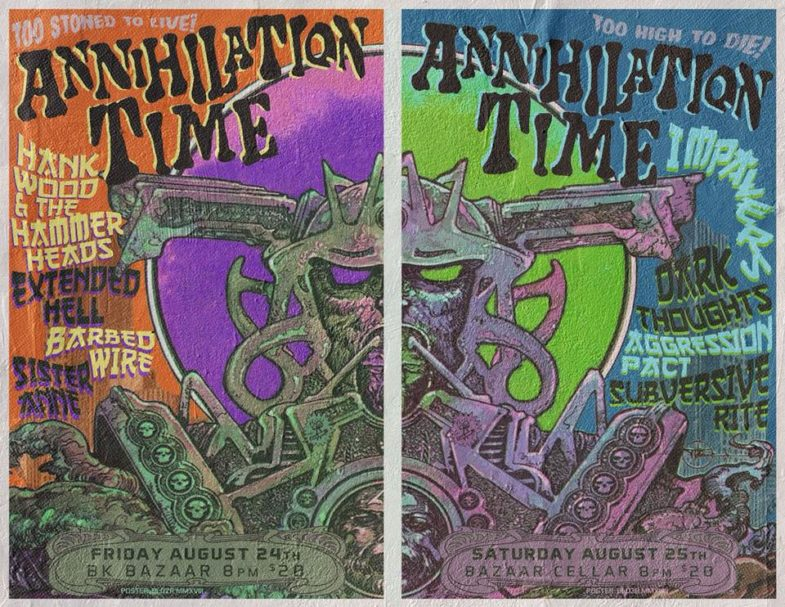 Annihilation Time-Impalers-Dark Thoughts-Aggression Pact-Subversive Rite @ Brooklyn NY 8-25-18