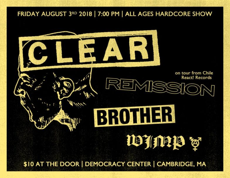 Clear-Remission-Brother-Wimp @ Cambridge MA 8-3-18