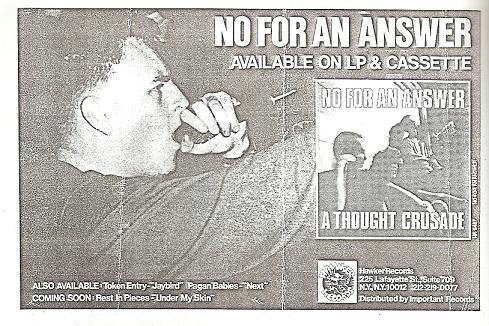 No For An Answer (Hawker Records)