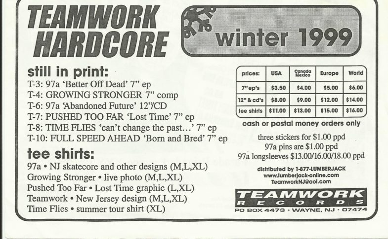 Teamwork Records Winter 1999
