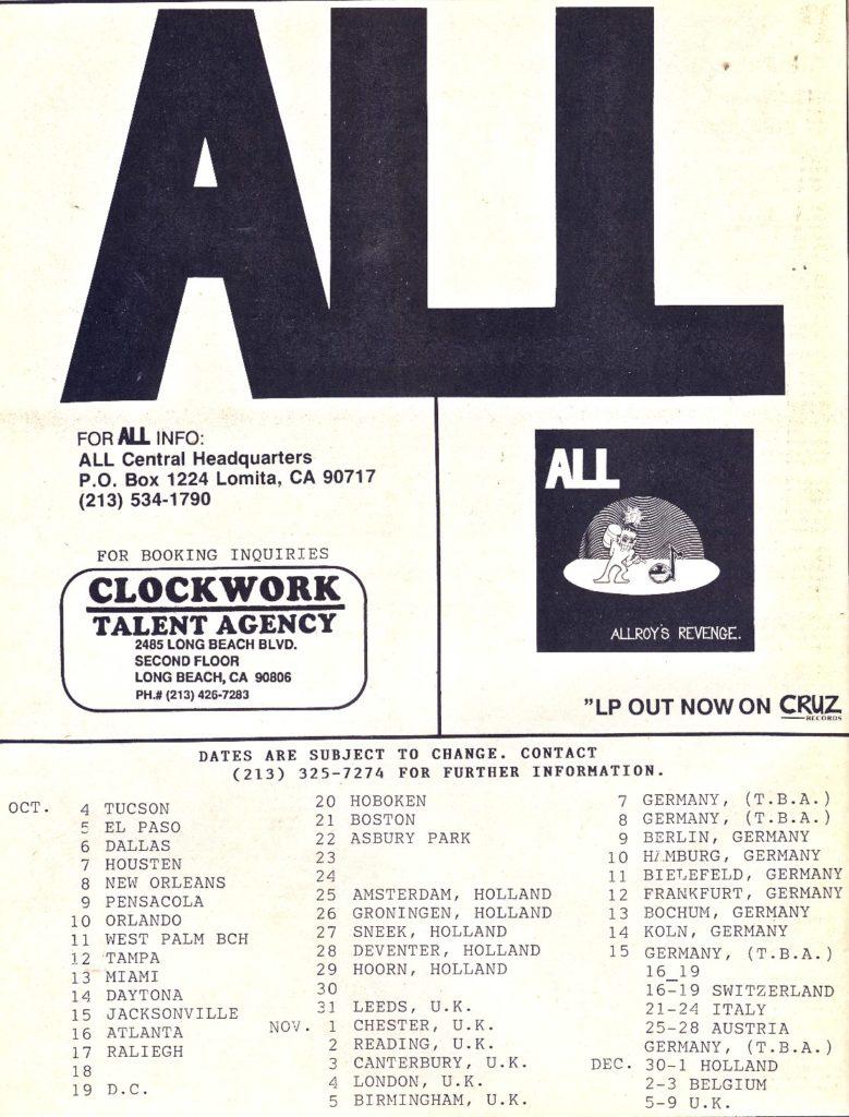 All Tour 1988
