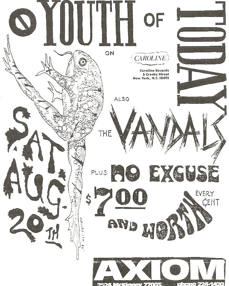 Youth Of Today-Vandals-No Excuse @ Houston TXT 8-20-88