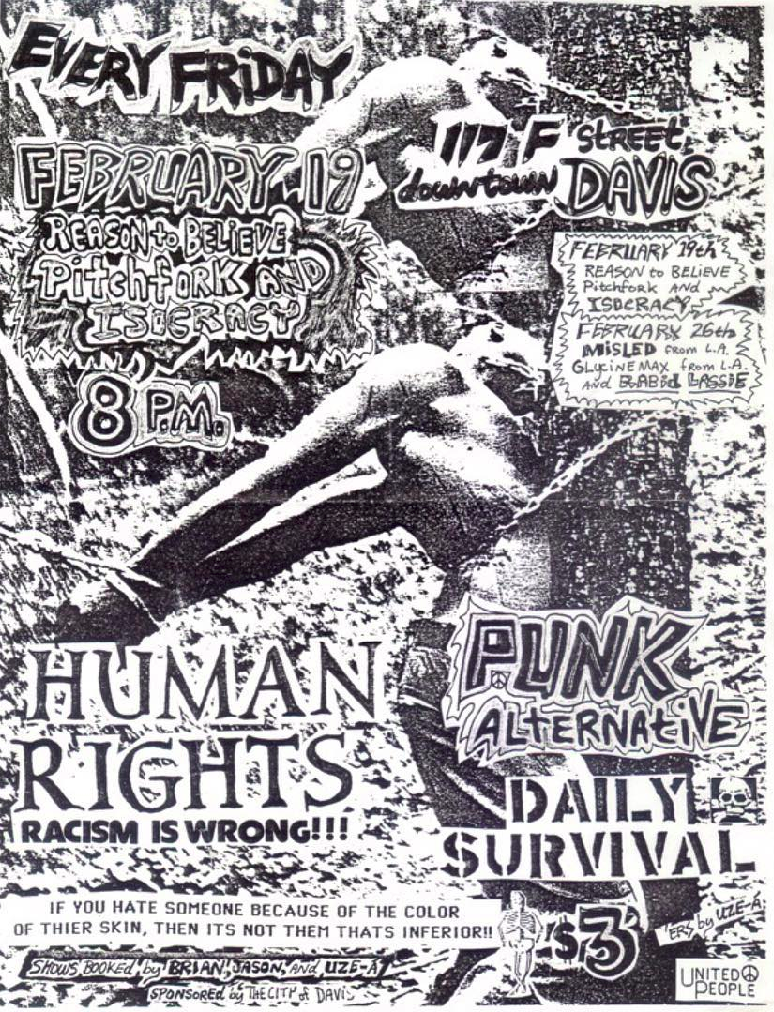 Reason To Believe-Pitchfork-Isocracy @ Davis CA 2-19-88