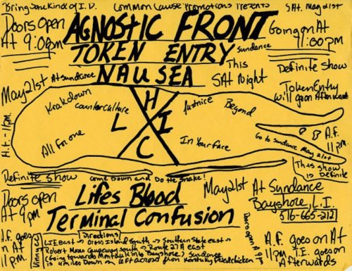 Agnostic Front-Token Entry-Nausea-Life's Blood-Terminal Confusion @ Long Island NY 5-1-88
