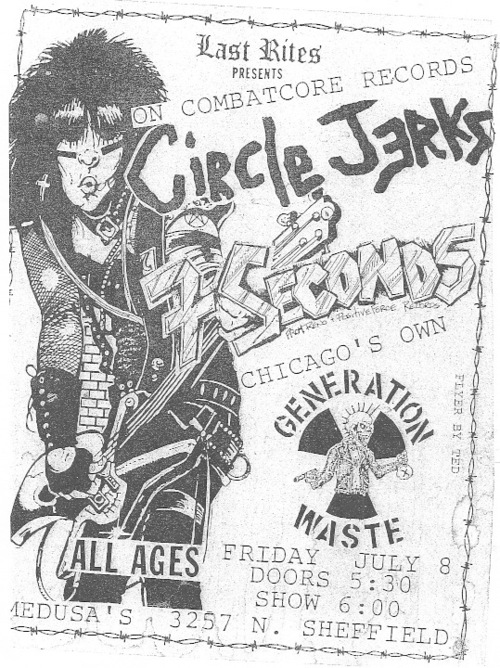 Circle Jerks-7 Seconds-Generation Waste @ Chicago IL 7-8-88